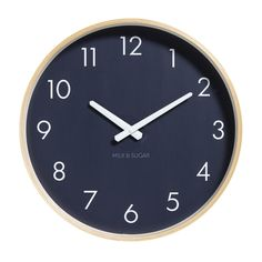 Weston Clock by Milk & Sugar  #housethings #wishlist