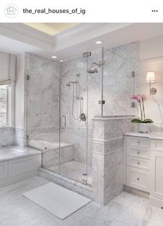 Enchanting luxurious master bathroom home decorating tips for baths and small bathroom. Mansion master bathroom to inspire your dream cutting-edge, romantic, and elegant decor for the dream spa luxury bathroom. Zen master bathroom with a jacuzzi and steam Bad Inspiration, Bathroom Inspiration, Dream Bathrooms, Beautiful Bathrooms, Master Bathrooms, Upstairs Bathrooms, Luxury Bathrooms, Master Baths, Master Shower