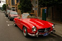 mercedes benz convertible | OLD PARKED CARS.: 1959 Mercedes-Benz 190SL.