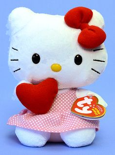 Hello Kitty (Red heart) - Cat - Ty Beanie Babies