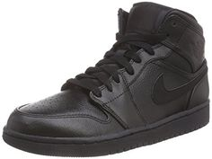 more photos 69d63 0c6fe Nike Air Jordan 1 Mid - Sneaker per herren, Black Black, 43 EU  ( Partner-Link)