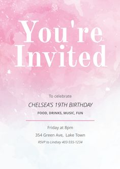 27 best free invitation templates images on pinterest in 2018