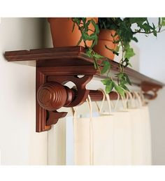 Window shelf curtain rod (Guest room)