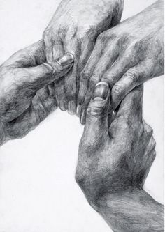 Romantic grip of fingers is indicative of deep love Drawing Skills, Drawing Lessons, Life Drawing, Figure Drawing, Drawing Sketches, Painting & Drawing, Pencil Art, Pencil Drawings, Art Drawings