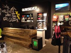 Signwriting and wallpapering at Quiksilver stores