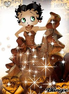 Betty Boop: Every beat of my heart. Baby Esther, Imagenes Betty Boop, Betty Boop Birthday, Black Betty Boop, Brown Betty, Boop Gif, Animated Cartoon Characters, Betty Boop Cartoon, Betty Boop Pictures