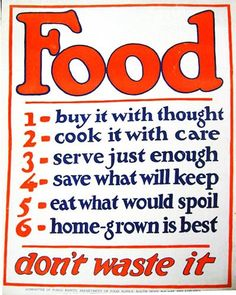 Food: buy it with thought  Photo: National Agricultural Library  WWI