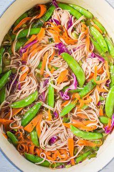 Skinny Vegetable Soba Noodles