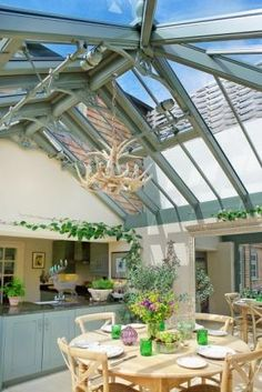 Love this glass ceiling. Really brightened up tiny galley kitchen.