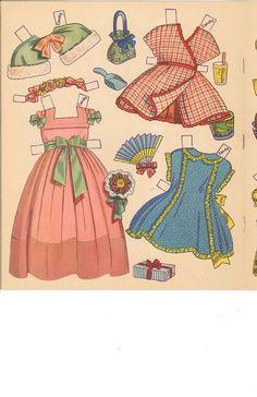 Big 'n' Easy Paper Dolls 'n' Clothes by Charlot Byi (4 of 8), Merrill #344210: Sandy & Candy | Fotografías Muñecas | Muñecas, muñecas de imágenes fotografías