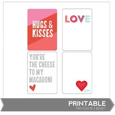 Free Printable Love-themed Cards - from Two Peas in a Bucket