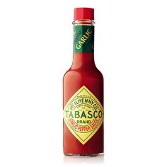 TABASCO® Cayenne Garlic Pepper Sauce enhances the flavor of any dish. This hot sauce has a zesty blend of cayenne pepper and aged red pepper mash, infused with savory garlic. Cayenne Peppers, Garlic Sauce, Hot Sauce Bottles, Stew, Stuffed Peppers, Stir Fry, Martini, Casseroles, Soups