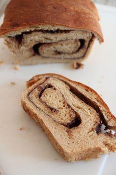 Nutella Swirled Bread w/ photos (kitchenaid)