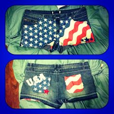My DIY Fourth of July shorts. Can't wait to wear them!