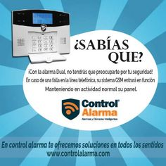 ¿Sabías que la ALARMA SMART DUAL.... Control, Chart, Ideas, Ip Camera, Interesting Facts, Security Systems, Did You Know, Advertising, Activities