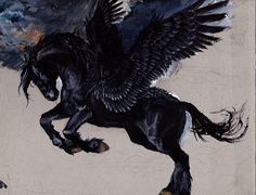 Black pegasus by deikochan.deviantart.com on @DeviantArt