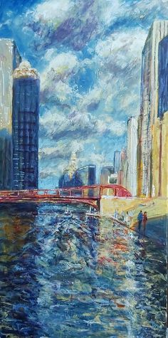 Original Art Acrylic Painting, measuring: 60W x 120H x 2D cm, by: Dimitris Voyiazoglou (Netherlands). Styles: Impressionism. Subject: Architecture. Keywords: Blues, Chicago, Usa, Skyscrapers, Tramp. This Acrylic Painting is one of a kind and once sold will no longer be available to purchase. Buy art at Saatchi Art. Impressionism Art, Impressionist, Acrylic Painting Canvas, Canvas Art, Canvas Paintings, Find Art, Buy Art, Original Paintings, Original Art