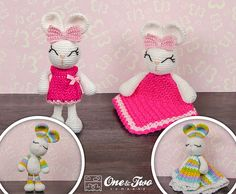 Combo Pack - Olivia the Bunny Lovey and Amigurumi Set for 5.99 Dollars - PDF Crochet Pattern - Instant Download - Special Offer Pack