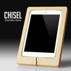 Amazon.com: CHISEL - Bamboo iPad Mini Dock by iSkelter: Computers & Accessories