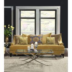 Furniture of America Visconti Premium Fabric Sofa - Free Shipping Today -  Overstock.com - 16585031