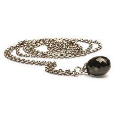Zilveren collier met onyx - trollbeads.com