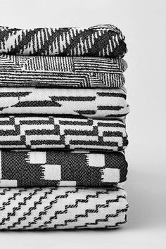 Browse the collection of monochrome throws by east London textile designer by Beatrice Larkin. Steps Design, Weaving Textiles, Monochrome Photography, Textile Design, Merino Wool, Fabric, East London, Japan, Mood