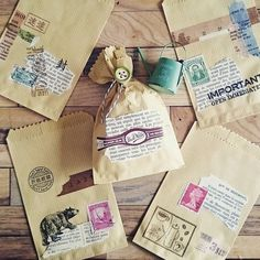 Adorable paper bags with a vintage feeling