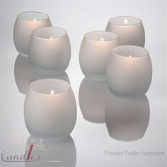 Frosted petite hurricane holders for tealight candles, set of 12 $12.99