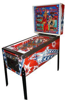 Pinball Six million dollar man Video Game Machines, Arcade Game Machines, Arcade Games, Retro Arcade Machine, Pinball Wizard, Penny Arcade, Bar Games, Jouer, The Ordinary