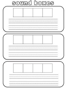 Free printable elkonin sound box template classroom for Elkonin boxes template