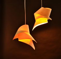 Tie Veneer Lampshade by Vayehi on Etsy, $138.00