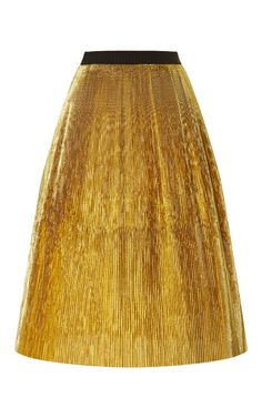 Shop Pleated Lurex Skirt by Marni - Moda Operandi