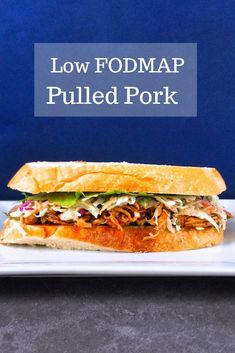 Low FODMAP Pulled Pork - Looking for a quick and easy dinner? Try this FODMAP friendly pulled pork. Just pop it in your slow cooker before you leave and have a delicious low FODMAP dinner when you return.
