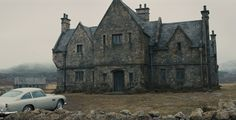 Skyfall Manor House residence of James Bond as a child. constructed for the film in Surrey England James Bond Skyfall, Highlands, Best Bond, Best Cinematography, Film Grab, English Manor, Scottish Castles, Night Life, Barcelona Cathedral