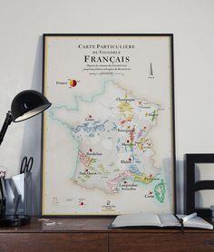 Les Vins de France (Affiche 50x70 cm)