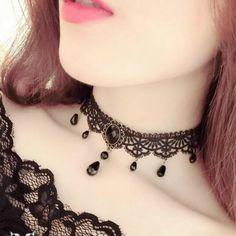 Fashion Black Velvet Choker Necklace for Women Statement Chocker Necklaces Pendants Bijoux Femme Collier Jewelry Collares Mujer