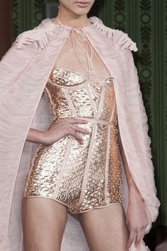 Oscar Carvallo Spring 2013. - interesting gold fish scale like material