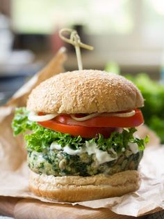 Garlicky Kale Burgers