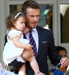 David and Harper Beckham. My heart...cutest thing ever. <3