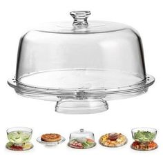 Multifunction Cake Dome Punch Chip Dip Salad Veggie Hors D'oeuvre Serving Stand