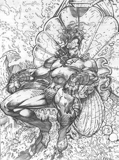 submarine | sketch and drawing of the art of Jim Lee