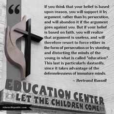 Religion distorts faith?
