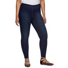 Plus Size Jennifer Lopez Skinny Ankle Jeggings, Women's, Size: 20W T/L, Dark Blue