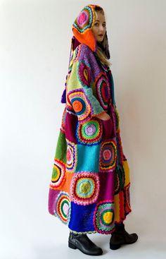 Plus Size Clothing Long Hooded Cardigan Wearable Art Boho Cardigan Bleu, Hooded Cardigan, Plus Size Cardigans, Cardigans For Women, Bosnia Y Herzegovina, Crochet Wrap Pattern, Recycled Sweaters, Swing Coats, Boho
