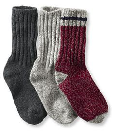 "Wool Ragg Sock Gift Set, 10"" Three-Pack from L.L. Bean"