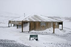 Scott's Hut, Cape Evans, Antarctica  -built in 1911 - ten men were marooned here and three died - apparitions are seen,voices and footsteps, feelings of being watched