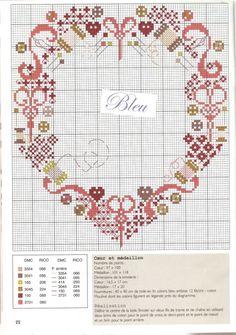 ru / Photo # 94 - Rare and beautiful circuits - Olgakam Cross Stitch For Kids, Cross Stitch Heart, Cross Stitch Borders, Cross Stitch Designs, Christmas Embroidery Patterns, Embroidery Hearts, Ribbon Embroidery, Blackwork Embroidery, Cross Stitch Embroidery