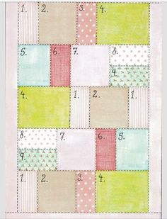 """Perfect quilt pattern for a """"random"""" look. Or a tshirt quilt!!!(:"""