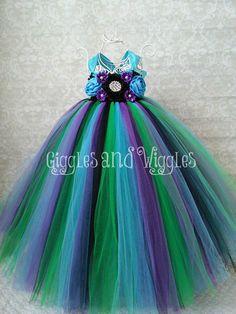 Peacock Flower Girl Tutu Dress by GigglesandWiggles1 on Etsy