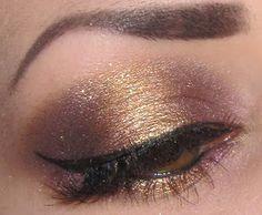 Plum purple & gold